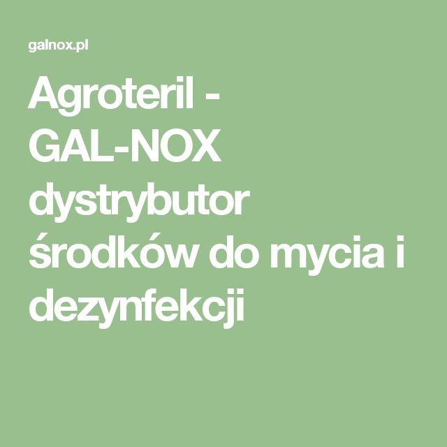 Agroteril - GAL-NOX dystrybutor środków do mycia i dezynfekcji