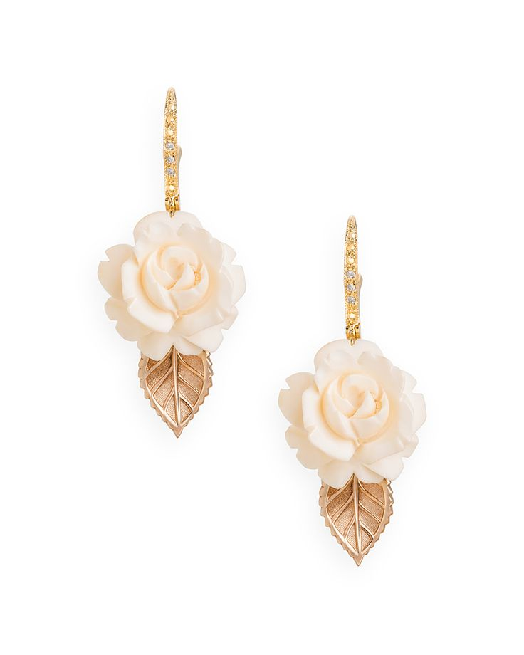 Tory Earrings - these cream colored roses are cute