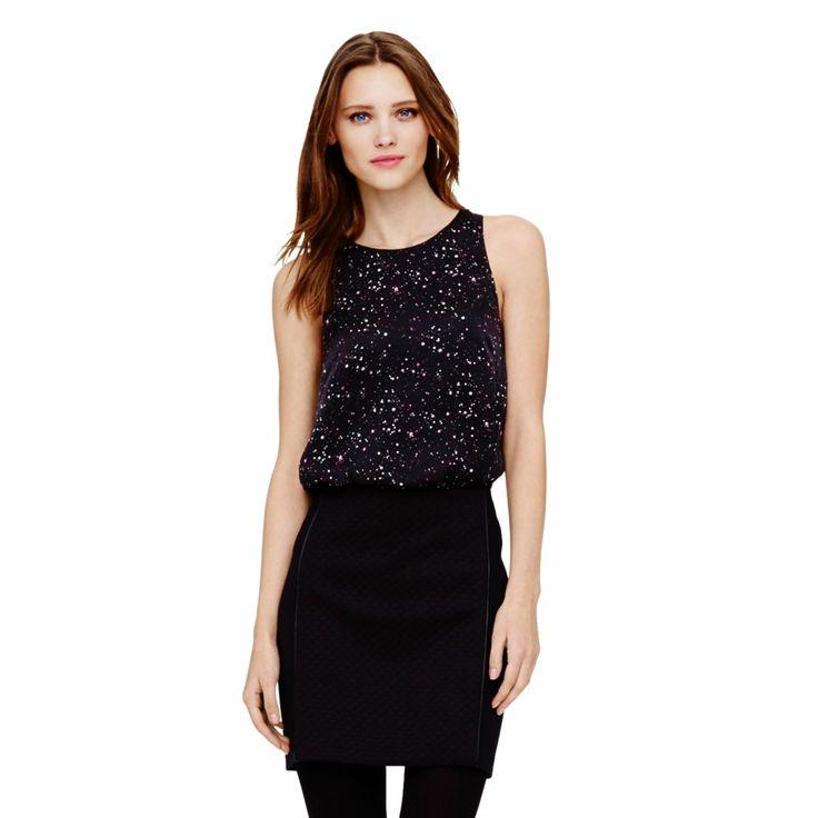 Lourdes Printed Silk Tank - Sleeveless Shirts at Club Monaco