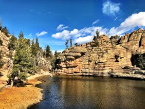 """Hike to a real """"gem.""""  Gem Lake near Estes Park, Colorado is a great hike in Rocky Mountain National Park."""