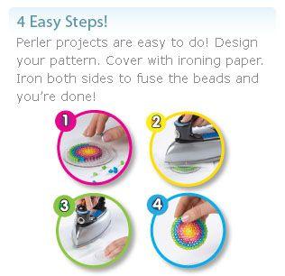 4 easy steps to iron perler beads