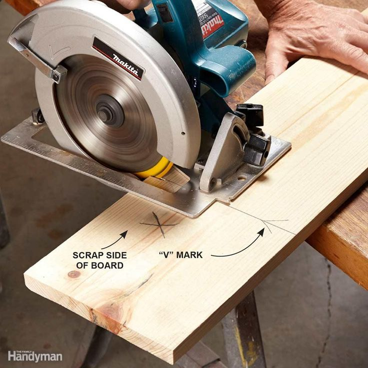 """Start With Accurate Marks - To get an accurate cut, you have to start with an accurate mark. Stretch out your tape measure, place your pencil at the correct measurement and make two marks that form a """"V,"""" with the tip of the """"V"""" pointing at the exact measurement. A """"V"""" is more accurate than a single line, which can stray slightly to the right or left and throw off your cut mark.Using a square, mark your cutting line over the tip of the """"V."""" Finally, put an """"X"""" on the """"scrap"""" side of the…"""