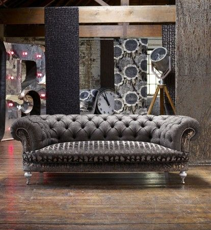 Contemporary Styled Chesterfield Lounge.