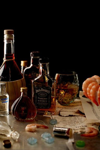 """playboy:  """" Classy Still-Life Portraits of Musicians' Insane Tour Rider Requests 