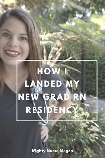Excited to be sharing how I landed my first job as a New Grad Oncology Nurse|| Mighty Nurse Megan