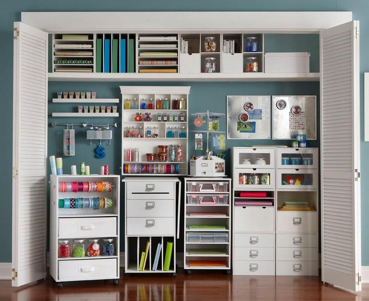 What a great craft space! I'd love to do this in my craftroom closet! This was on Micheal's Facebook page.