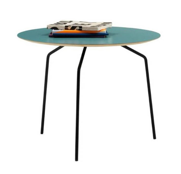 Side tables , pcs,vintage blue laminated/coral red laminated/aqua green laminated/matt black lacquered