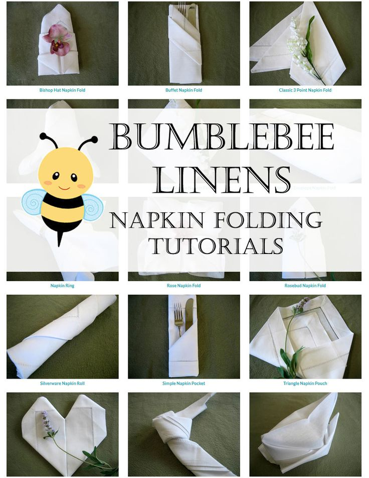 The 146 best images about fun napkin crafts on pinterest - Unique ways to fold napkins ...
