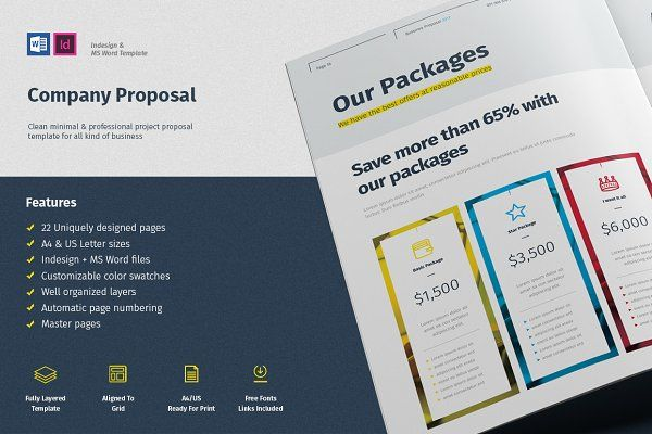 Proposal \/ Company Profile Template Des Pinterest Company - it company profile template