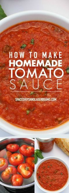 How to Make a Delicious Homemade Tomato Sauce via /spaceshipslb/