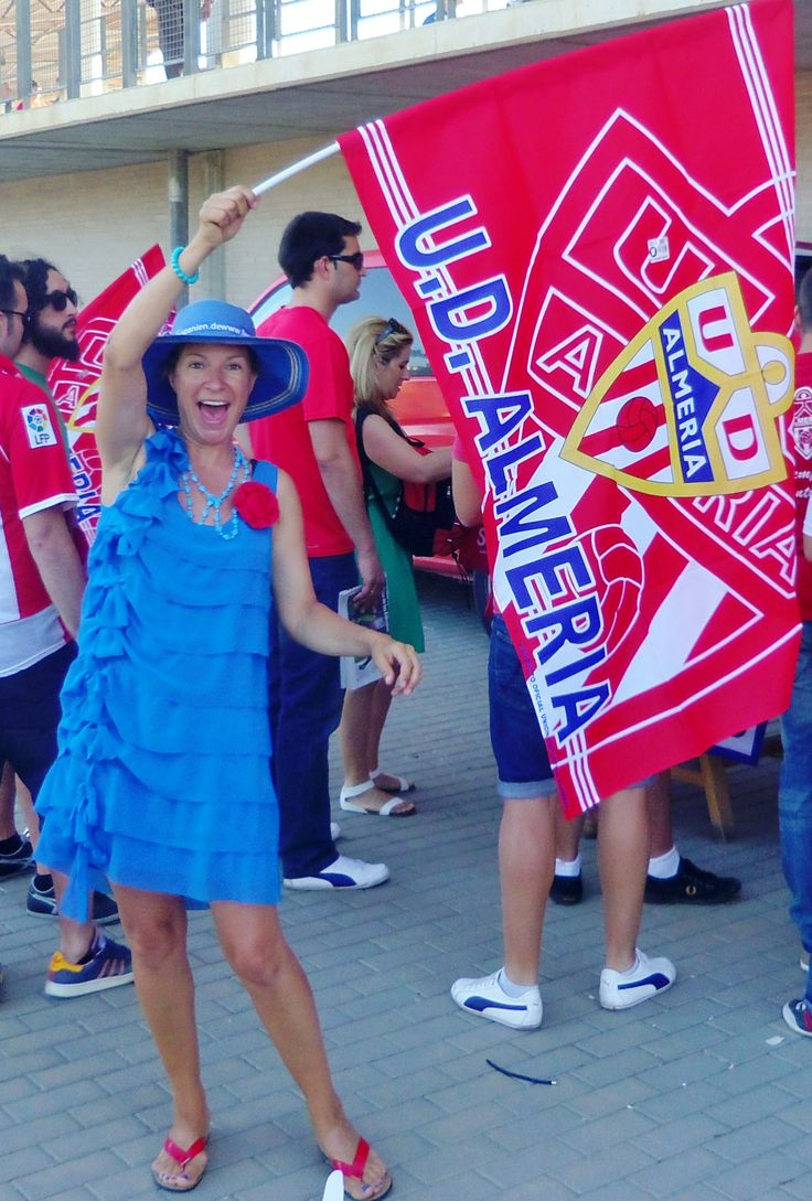 At the stadium of UD Almeria in their play off match against #Girona.