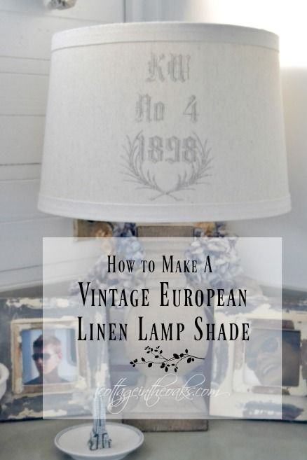 DIY European Linen Lamp Shade How to