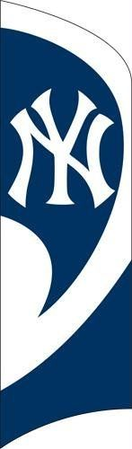 MLB New York Yankees Tall Team Flags by Party Animal. $49.99. Easy to assemble 11 1/2 foot steel pole with ground stake. Includes durable 8 1/2 foot tall by 2 1/2 foot wide Applique and Embroidered nylon flag. Does not require permanent flagpole to be installed or attached to house. - MLB Series - Premium Quality appliqu and embroidered MLB Licensed Tall Team Flag sets up in SECONDS! Kit INCLUDES easy-to-assemble 11 Ft. pole with ground stake. Eliminates need for permane...