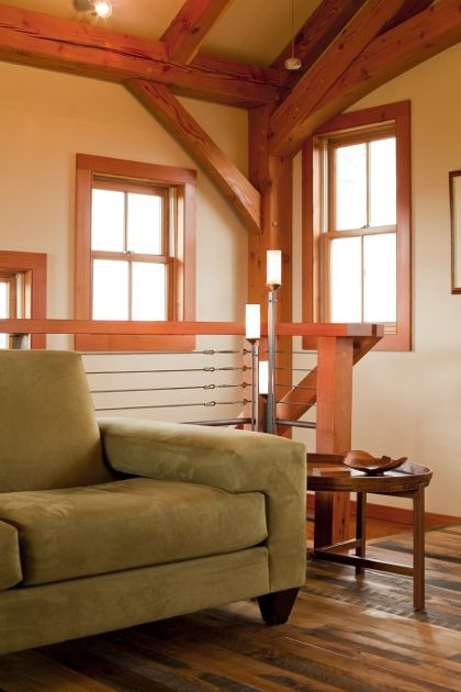 1000 images about timber frame home interiors on for Timber frame home interiors