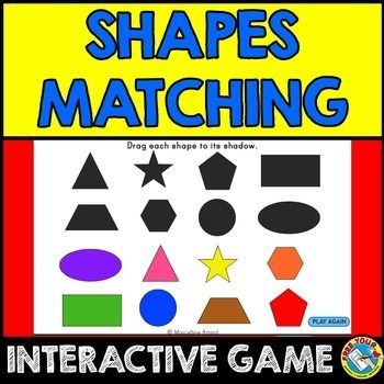 FREE SHAPES INTERACTIVE ACTIVITY  SELF-CORRECTING GAME: DRAG 2D SHAPES TO THEIR CORRESPONDING SHADOW  A simple, free 2d shapes matching game to be used on a computer or interactive whiteboard. Children drag 2D shapes to the corresponding shadow. Only correct answers will be accepted.  Children will surely enjoy this activity since it is interactive and visually stimulating. It is very practical as it is self-checking too!