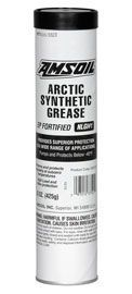 """Amsoil Arctic Synthetic Grease provides extreme low-temperature pumpability and superior protection for equipment operating in harsh climates where temperatures drop well below freezing, ensuring superior load and wear protection where conventional greases are ineffective."