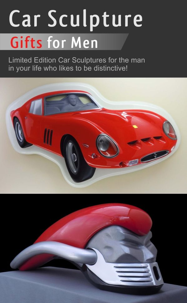 Car Sculpture Gifts for Men by Charlie Thompson Sculpture.   Are you looking for something really cool and distinctive for your man's cave, den or office? Have a look at my collection of Car Sculptures for a birthday or Christmas gift that can be a centrepiece in their favourite space.