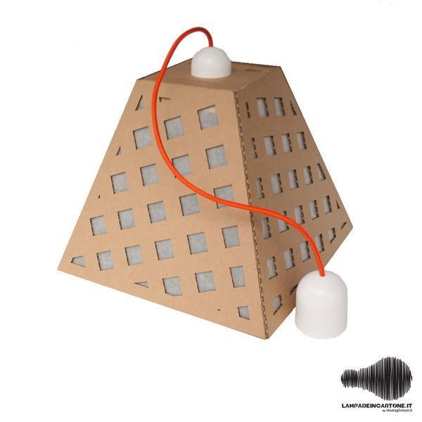 Lampadario di Cartone  di ideatagliolaser.it su DaWanda.com