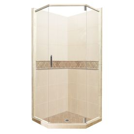 neo angle corner shower kits. Shop American Bath Factory Flagstaff Medium with Dark Accent Sistine Stone  Wall Composite Floor Neo Angle Corner Shower Kit Actual Best 25 shower kits ideas on Pinterest showers