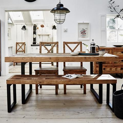 Standford Industrial Reclaimed Extending Dining Table | Modish Living