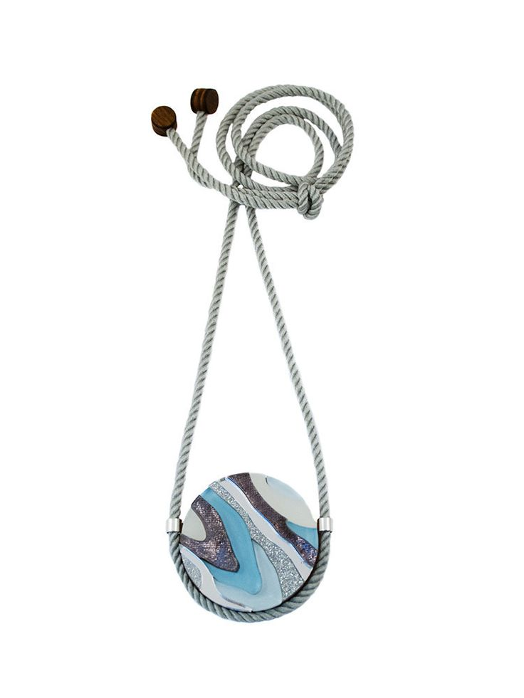 Marble III Necklace in Pastel Blue by Wolf & Moon