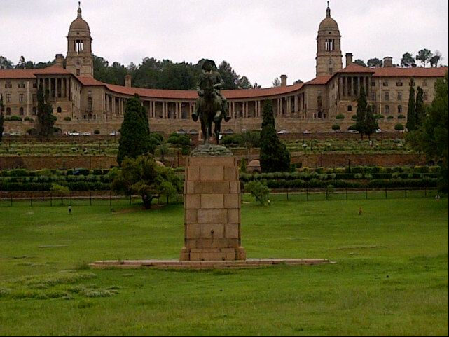 Gardens infront of the Union Buildings in Pretoria, Gauteng, South Africa