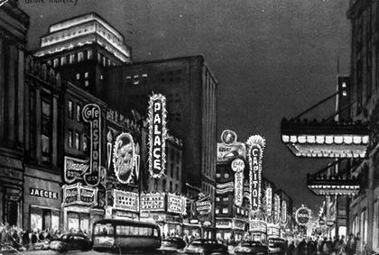 Rue Ste-Catherine (1950).