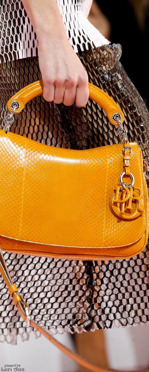 Christian Dior ~ Fall Leather Handbag, Gold, 2015