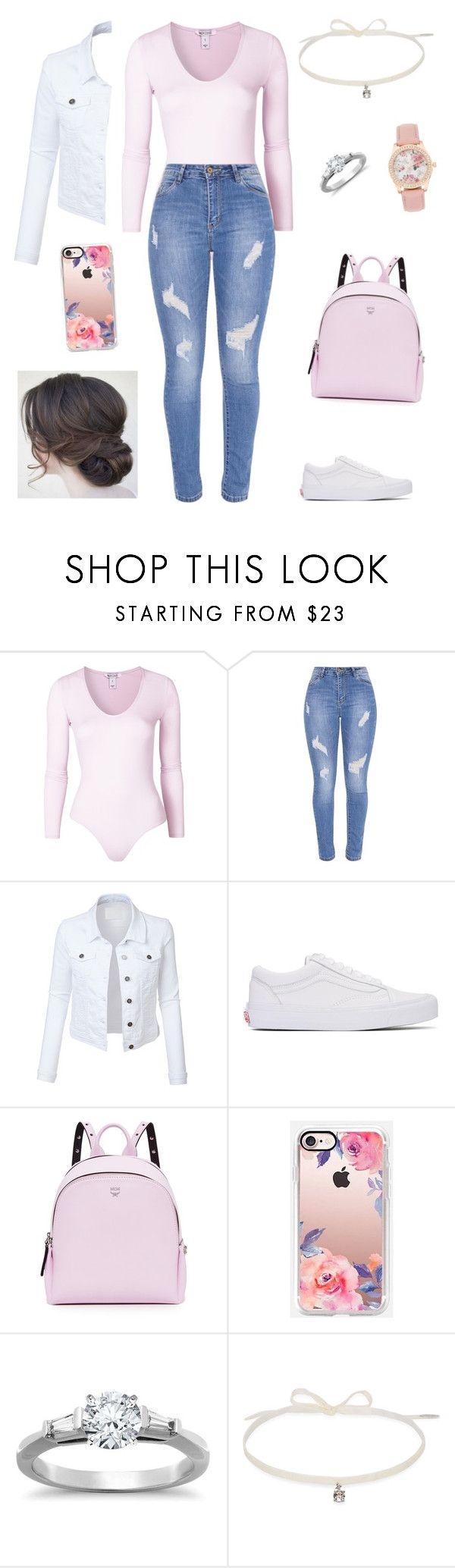 """Untitled #1690"" by rosemlove ❤ liked on Polyvore featuring LE3NO, Vans, MCM, Casetify, Tiffany & Co. and Joomi Lim"