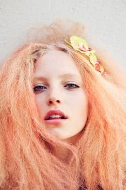 Peach hair is delightful! Use Directions Apricot, dilute with Directions Color protect Conditioner if necessary