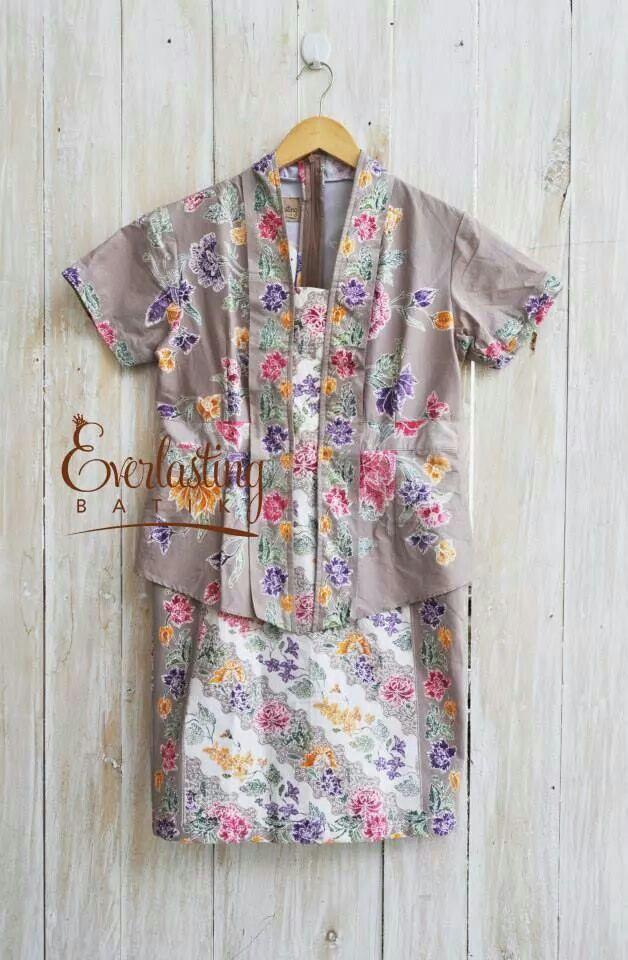 cute floral batik in kebaya