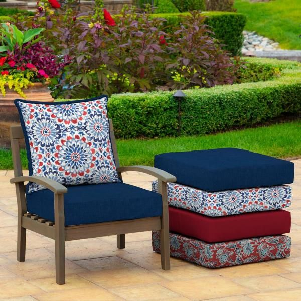 24 X 24 Clark 2 Piece Deep Seating Outdoor Lounge Chair Cushion In 2020 Replacement Patio Cushions Outdoor Deep Seat Cushions Patio Furniture Cushions