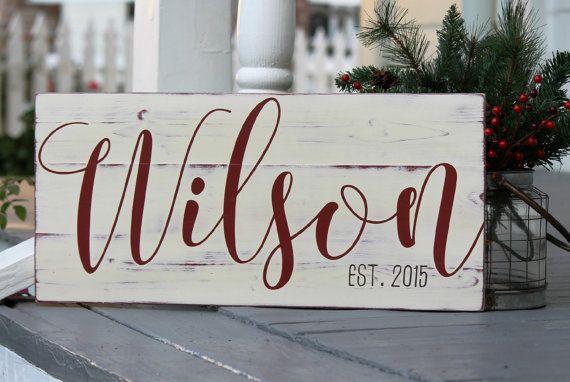 Custom name sign, Last name sign, Family name sign, Custom wedding gift, Housewarming gift, Established sign, Measures…
