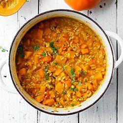 Zapiekanka ryżowa z dynią, mielonym mięsem i pomidorami | Kwestia Smaku