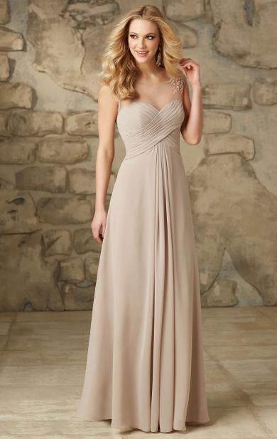 Forever Yours Champagne Long Bridesmaid Dress BNNCG0016