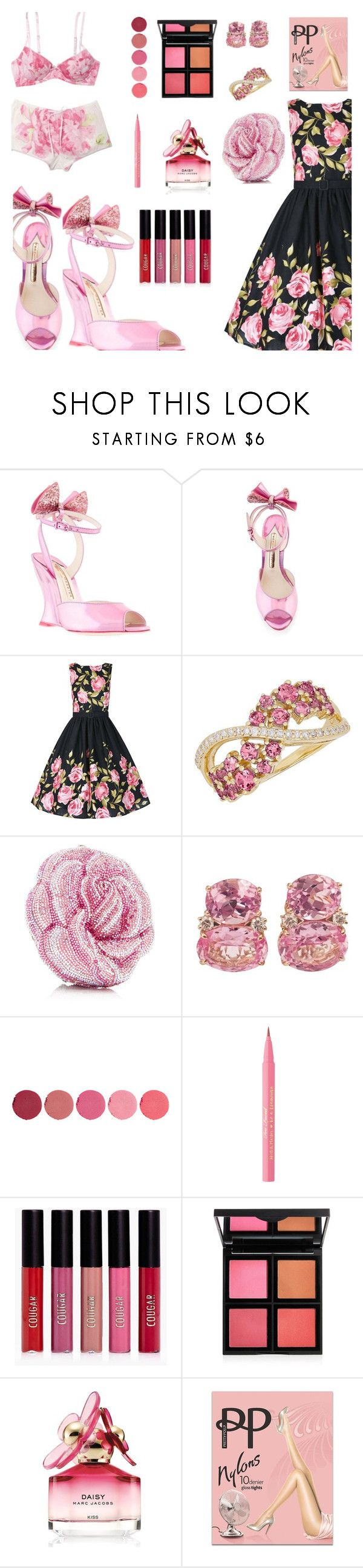 """Girly, girl shoes"" by onenakedewe ❤ liked on Polyvore featuring Sophia Webster, Lord & Taylor, Christina Addison, Kjaer Weis, Too Faced Cosmetics, Boohoo, Charlotte Russe, Marc Jacobs, Pretty Polly and girlyshoes"