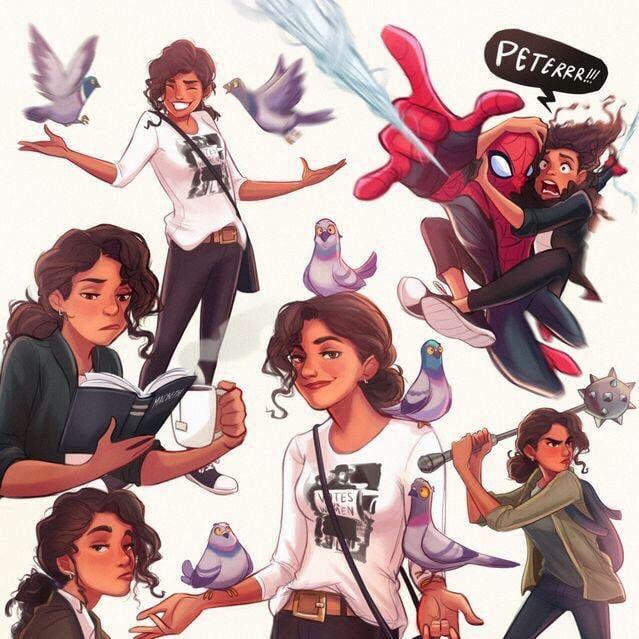 Mj And Spider Man Fanart Fan Art Black Girl Art Spiderman