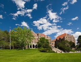 Visit the beautiful campus of Carroll College in Helena, Montana.