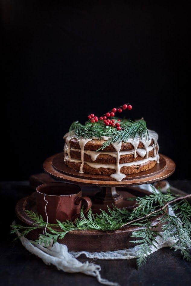 Date & Honey cake with a cinnamon orange glaze