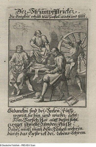 Der Strumpfstricker. - Deutsche Digitale Bibliothek