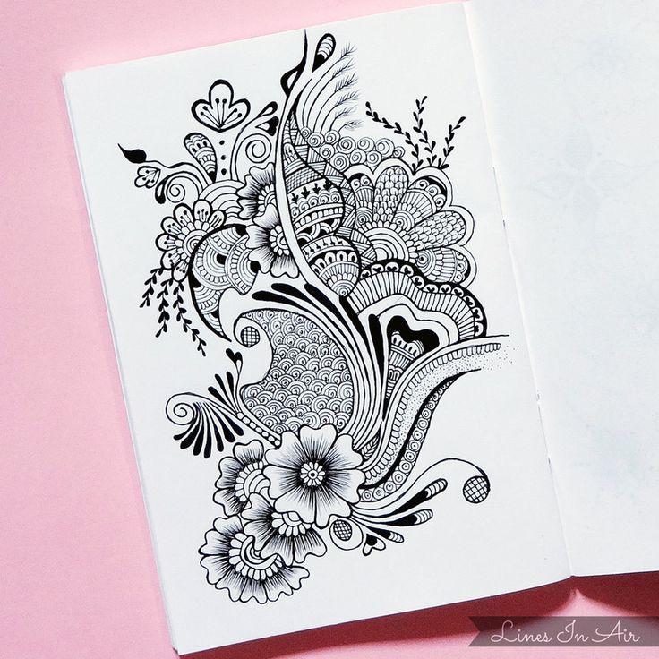 Mehndi For Practice : Best zentangle doodling tangle scarabocchi