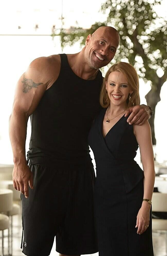 kylie minogue the rock dwayne johnson Kylie Minogue Joins Dwayne Johnsons Disaster Film San Andreas