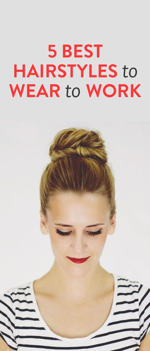 5 easy hairstyles for work #Working #Woman #Hairstyle #Ideas