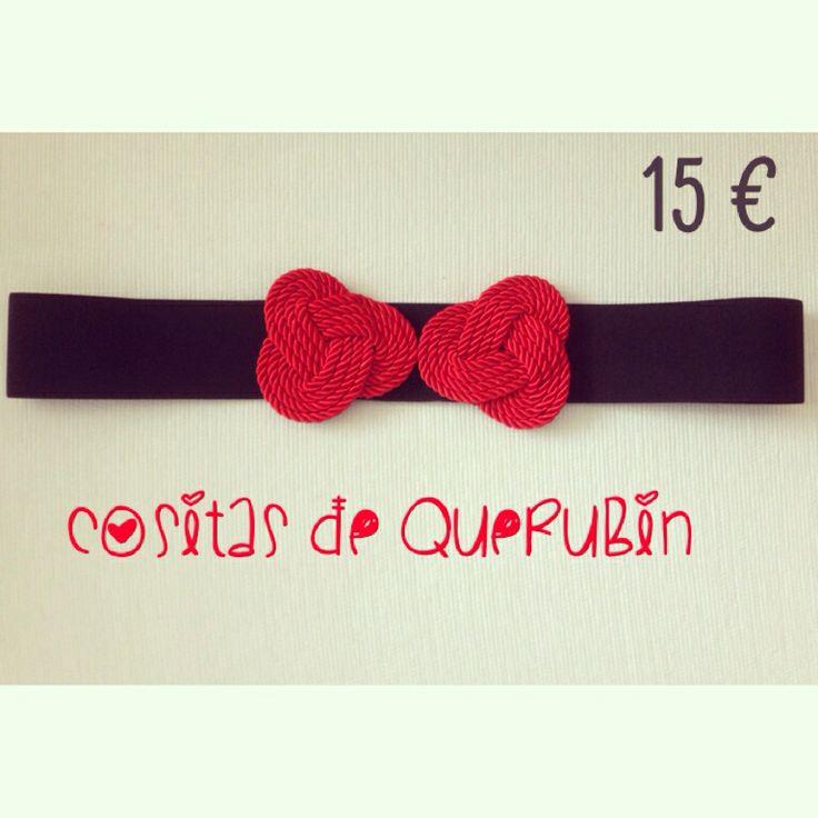 Cinturón nudo rojo 15 €. Envíos toda España 1,50 €