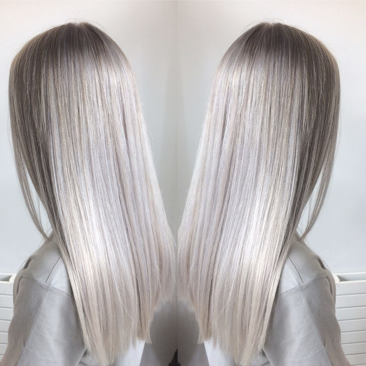 Silver hair, blonde hair, highlights