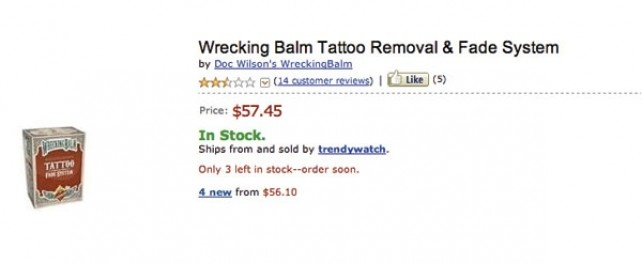 Funny Feedback – Wrecking Balm Tattoo Removal & Fade System