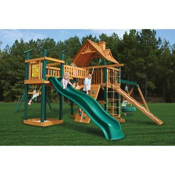 (CLICK IMAGE TWICE FOR UPDATED PRICING AND INFO) Gorilla Playsets Blue Ridge Pioneer Peak Playground System - See More Gym Sets & Swings at http://www.zbuys.com/level.php?node=6403=kids-swing-sets