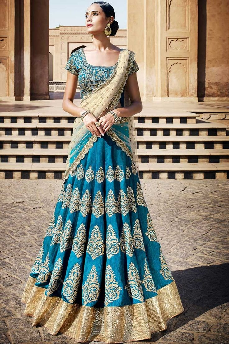 Boutique pour de nouvelles élégant #Blue Art Soie #Lehenga Choli avec Dupatta #AndaazFashion http://www.andaazfashion.fr/womens/lehenga-choli/blue-art-silk-lehenga-choli-with-dupatta-dmv8532.html