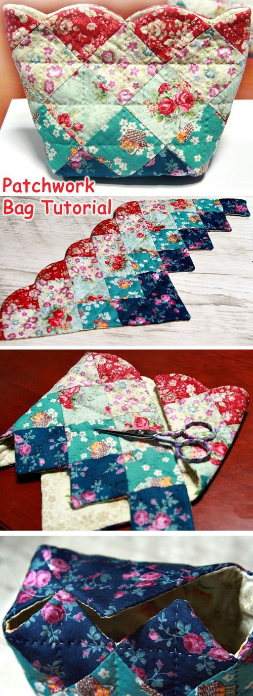 Fast and easy patchwork Sew Together Bag. DIY Tutorial in Pictures. http://www.handmadiya.com/2015/10/handmade-patchwork-bag.html