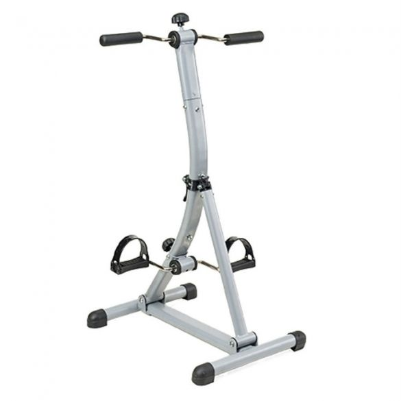 Tunturi Dubbele Fietstrainer / Stoelfiets - Verstelbaar  Description: De Tunturi Duale Fietstrainer / Stoelfiets is een ideaal apparaat om in beweging te blijven.De trainer kan eenvoudig voor een stoel geplaatst worden en het fietsen kan beginnen.Zo is plezier en beweging eenvoudig te combineren en is het mogelijk om fit te blijven voor de televisie.De buis van de trainer is te verstellen om de handpedalen naar je toe te halen en zo toch lekker tegen van de leuning van de stoel te kunnen…